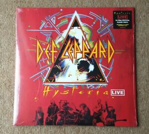 Def Leppard: Hysteria live.                          Double clear vinyl Lp