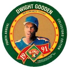 1991 King B Disc DWIGHT GOODEN (vg-ex) New York Mets