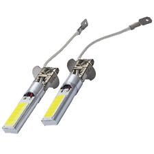 2x H3 60W CREE High Power LED Xenon White Fog Light Bulb 6000k COB Lamp New