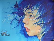 Lora Zombie SIGNED Print 'Ocean Tears' (+ banksy faile dolk eelus dran photos)