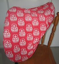 Horse Saddle cover Orange Russian doll  & FREE EMBROIDERY Aussie Made Protection