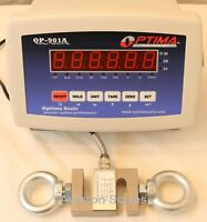 10,000 x 2 LB CALIBRATED S-TYPE LOAD CELL & LED INDICATOR HANGING CRANE SCALE RD