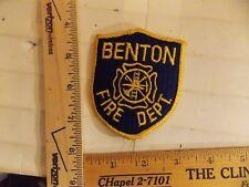 BENTON FIRE DEPT PATCH ARKANSAS IOWA IA (LOT D )