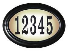 Edgewood, Lto-1302-Bl, Oval Lighted Address Sign in Black Frame Color