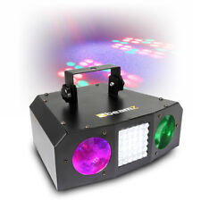 Beamz Twin LED Moonflower Strobe Light Music Controlled DJ Lighting Rave Party