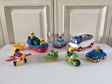 ♥ Lot De Véhicule Playmobil 123 Avion, Bus Car, Moto, Voitures, Bateau
