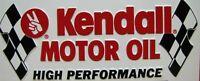 KENDALL MOTOR OIL Embossed Sign Vintage Vanity License Plate High Performance