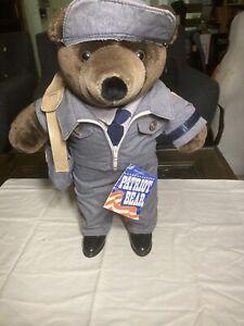 Vintage J J Wind Plush USPS Letter Carrier Patriot Teddy Bear 1980's VERY GOOD