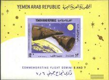 yémen du nord (arabes rep.) Bloc 55 neuf 1966 groupe de vol de gemini 6 et 7