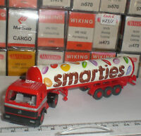 WIKING 786 31 SEMI TRAILER CAMION MERCEDES BENZ 1748 TANK TRUCK SMARTIES 1:87 HO