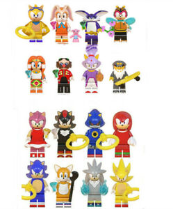 16Pcs Sonic The Hedgehog Minifigure Fit Kids Toy Collection Birthday Gift