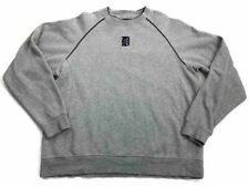 Antigua Mens Pullover Sweatshirt Gray Long Sleeve Cotton Blend Athleisure L