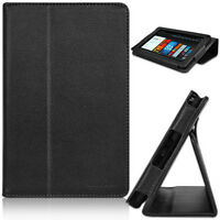 CaseCrown Bold Standby Genuine Leather Case (Black) for Amazon Kindle Fire New