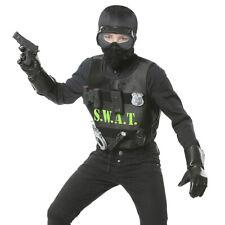 Swat Disfraz para Niños Policía Con Chaleco Soldado Infantil Ejército