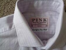"MENS THOMAS PINK LONDON LILAC STRIPED DRESS SHIRT 15/35 COLLAR 15"" PIT TO PIT 21"