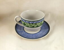 Wedgwood Home 'Watercolour' Ptn Porcelain - Tea Cup & Saucer