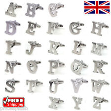 Custom Personalised ABC Initial Alphabet Silver Letter Cufflinks Mix & Match!