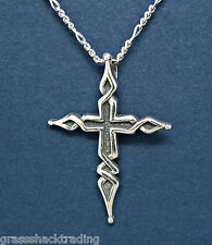 925 Sterling Silver Necklace POINTED CROSS FITCHY Jewelry