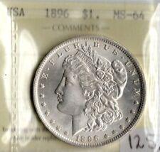 USA 1896 $1 One Dollar ICCS Certified  MS-64 XLN 481