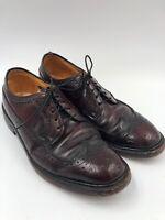 Hanover Shoe Wing Tip Oxfords Oxblood US 8.5 E/C Burgundy - Combination Last USA