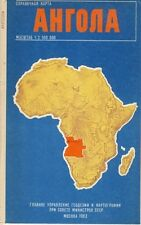 Angola Karta GUGK 1983 Karte russisch map russian Afrika Landkarte