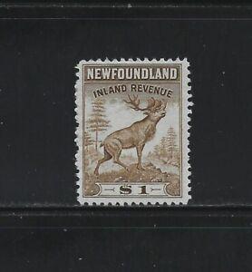 NEWFOUNDLAND - #NFR40 - $1 CARIBOU INLAND REVENUE UNUSED NO GUM STAMP