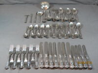 53 pc INTNL 1847 ROGERS VINTAGE GRAPE SILVERPLATE FLATWARE!