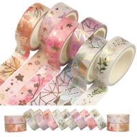 6X  Flower Foil Washi Tape Adhesive Scrapbooking Photo Album Card Paper Gift DIY