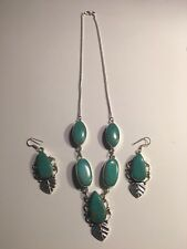 ANTIQUE MOSAIC JASPER NECKLACE AND EARRINGS SET-N1532