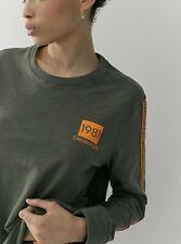 Calvin Klein Grey 1981 Bold lounge long sleeve  Sweatshirt in Green