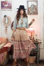 Spell & The Gypsy Free People Desert Rose Pink Maxi Skirt Rare