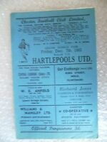 1962 CHESTER v HARTLEPOOLS, 7th Dec (League Division 4)