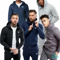 Mens NIKE Sportswear Tracksuit Fleece Separate Hoodie Joggers Grey Black Navy