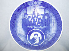 "1908-1983 Large 9.5"" Blue Royal Copenhagen Anniversary Christmas Plate 75 year"