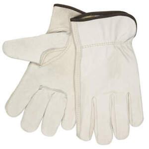 MCR SAFETY 3211XXXL Leather Gloves,Cream,3XL,PR