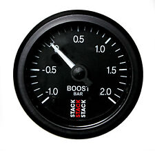 Stack Mechanical Turbo Boost Pressure Gauge -1 To +2 Bar Black Face 52mm 3111