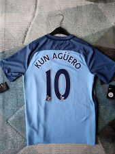 Nike Sergio Kun Aguero Manchester City Original Vapor Match Home Jersey 2016/17