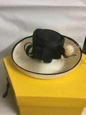 Attractive black and White Hat for Special Occasion From Selfridges & Co