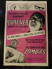 DRACULA, PRINCE OF DARKNESS/THE PLAGUE OF THE ZOMBIES Original Movie Poster, C7