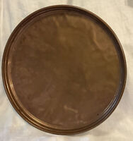 HUGE ANTIQUE FRENCH COPPER WALL PLATE PLATTER TRAY DISH SHABBY RETRO KITCHEN BAR
