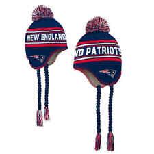 New England Patriots Kids 4-7 Tassel Knit Winter Hat Free Shipping