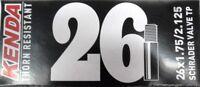 "Kenda 26"" ThornProof SCHRADER MTB Tube 26x1.75-2.125"" Thorn Proof"