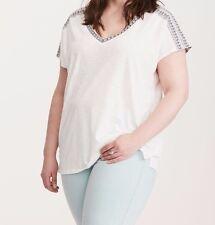 Torrid Embroidered Dolman Top White 4X 26 4 #10961