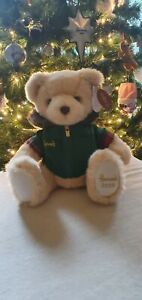 "HARRODS 2020 FOOTDATED CHRISTMAS COLLECTOR'S TEDDY BEAR 13"" NICHOLAS SOLD OUT"