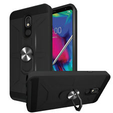 For LG Stylo 5/5+/5X/5V ShockProof Case Ring Stand Back Cover+Car Air Vent Mount