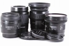 Minolta Lens 4set / 20mm F2.8 / 50mm F3.5 / 28-105mm F3.5-4.5 / 80-200mm #EL5233