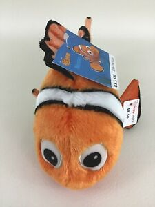 """Disney Store Finding Nemo Clown Fish Plush Stuffed Toy 8"""" Bean Bag New with Tags"""