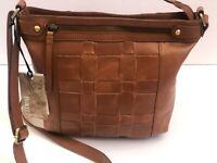 Born Handbag Crossbody Genuine Leather Purse Saddle Camel NWT MSRP $148