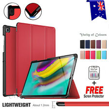 Folio Leather Smart Stand Flip Sleep Awake Case Cover For Samsung Galaxy Tab S5e