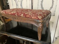 Vintage 1920's French Louis Xv Style Foot Stool -pettipoint/needlepoint-r are